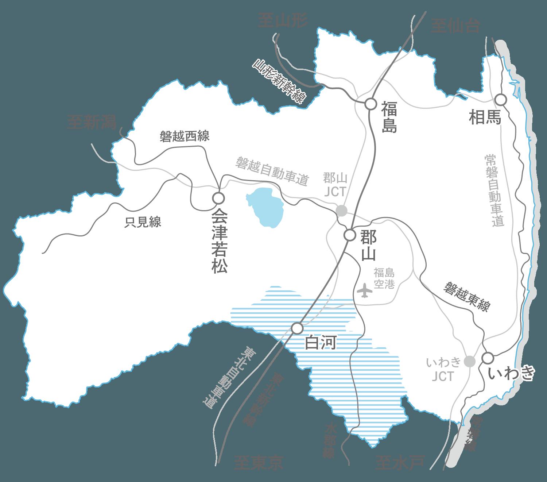 福島県の地図